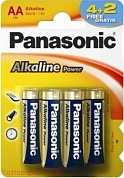 Э/п Panasonic Alkaline Power LR6/316 (BL4+2)  AA /R6 арт. 247462 (040958)